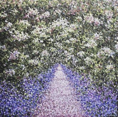 Lavender Path by Alison Cowan, Painting, Acrylic on canvas