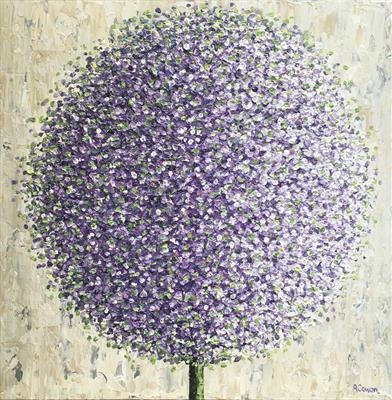 Lavender Pom Pom by Alison Cowan, Painting, Acrylic on canvas