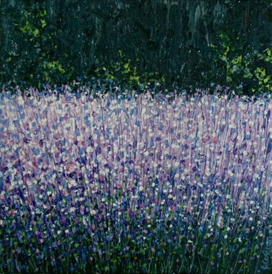 Lavender Shimmer by Alison Cowan, Painting, Acrylic on canvas