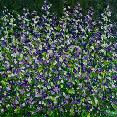 Lavender Skein by Alison Cowan, Painting, Acrylic on canvas