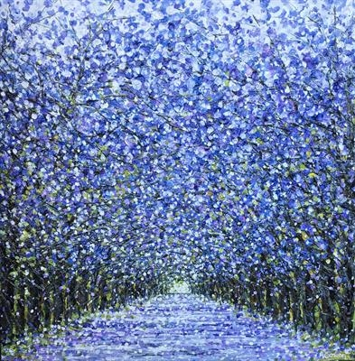 Lavender Trail by Alison Cowan, Painting, Acrylic on canvas