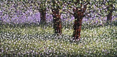 Leafy Bower by Alison Cowan, Painting, Acrylic on canvas