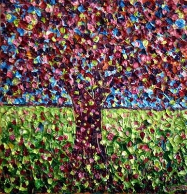 Lime Tree by Alison Cowan, Painting, Acrylic on canvas