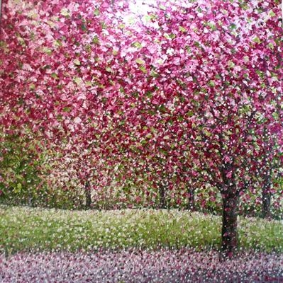 Limestripe Blossom by Alison Cowan, Painting, Acrylic on canvas