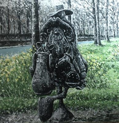 Lobey Dosser Home Again by Alison Cowan, Painting, Acrylic on canvas