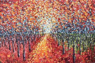 Mellow Path 2. by Alison Cowan, Painting, Acrylic on canvas