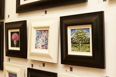 Mini paintings from May 2013 Show by Alison Cowan, Photography