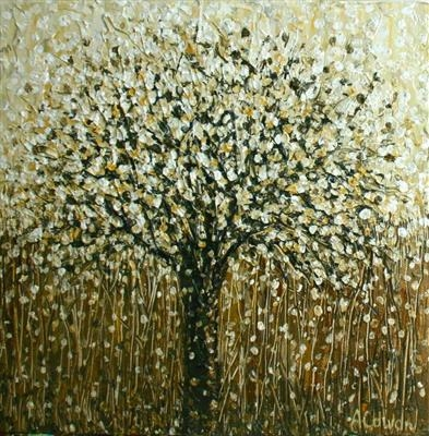 Mocha Tree by Alison Cowan, Painting, Acrylic on canvas