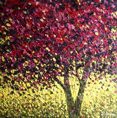 Mulberry by Alison Cowan, Painting, Acrylic on canvas