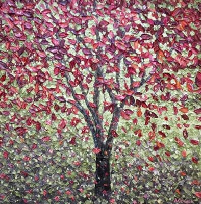 Mulberry Fall by Alison Cowan, Painting, Acrylic on canvas