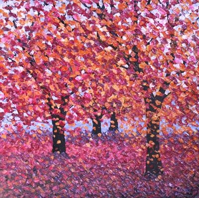 Mulberry Morn by Alison Cowan, Painting, Acrylic on canvas