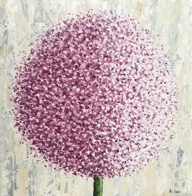 Mulberry Pom Pom by Alison Cowan, Painting, Acrylic on canvas