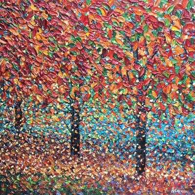 October Glory by Alison Cowan, Painting, Acrylic on canvas