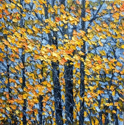 October Gold by Alison Cowan, Painting, Acrylic on canvas