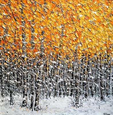 Ode to Winter by Alison Cowan, Painting, Acrylic on canvas