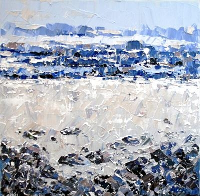 Pebble Beach by Alison Cowan, Painting, Acrylic on canvas