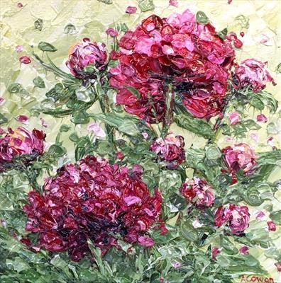 Peonies by Alison Cowan, Painting, Acrylic on canvas