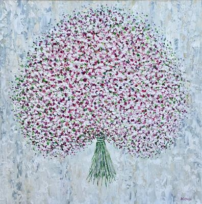 Pink Bouquet by Alison Cowan, Painting, Acrylic on canvas