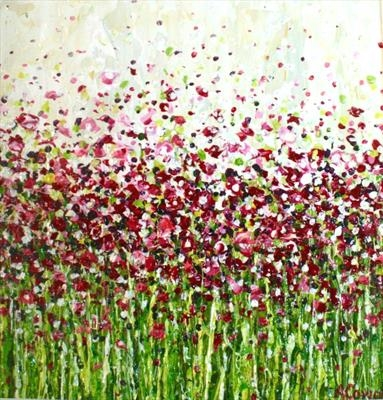 Pink Speckle by Alison Cowan, Painting, Acrylic on canvas