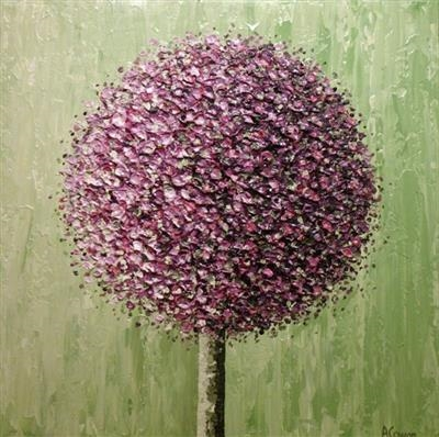 Pom Pom on Lime by Alison Cowan, Painting, Acrylic on canvas