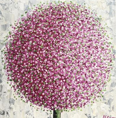 Pom Pom with Green by Alison Cowan, Painting, Acrylic on canvas