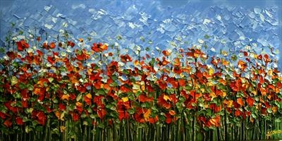 Poppy Field by Alison Cowan, Painting, Acrylic on canvas