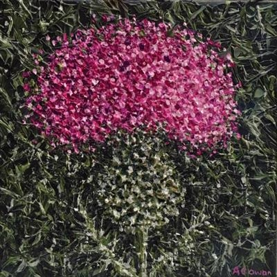 Prickly Thistle 2. by Alison Cowan, Painting, Acrylic on canvas