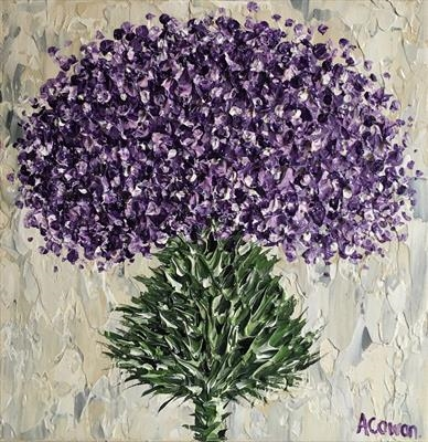 Purple Mop Top by Alison Cowan, Painting, Acrylic on canvas