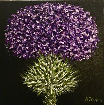 Purple Patriot by Alison Cowan, Painting, Acrylic on canvas