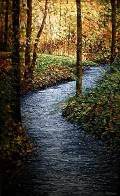 River Runs Through by Alison Cowan, Painting, Acrylic on canvas