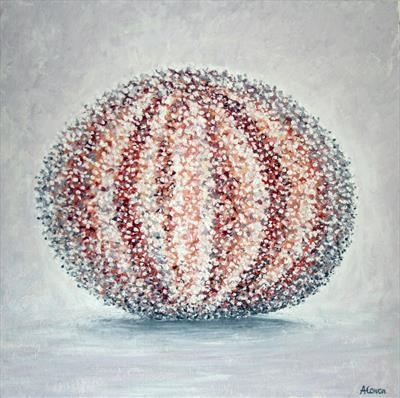 Sea Urchin by Alison Cowan, Painting, Acrylic on canvas