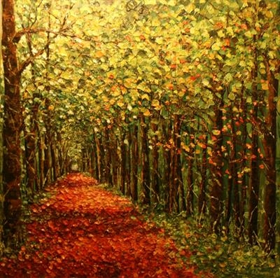 Sheltering Path by Alison Cowan, Painting, Acrylic on canvas