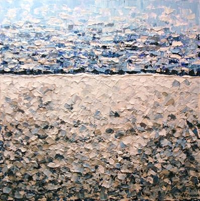 Shingle Beach by Alison Cowan, Painting, Acrylic on canvas