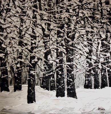 Snowfall by Alison Cowan, Painting, Acrylic on canvas