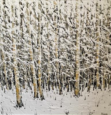Snowfall by Alison Cowan, Painting
