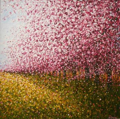 Spring Blossom by Alison Cowan, Painting, Acrylic on canvas
