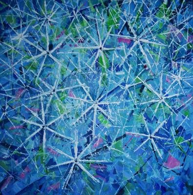 Star Galaxy by Alison Cowan, Painting, Acrylic on canvas
