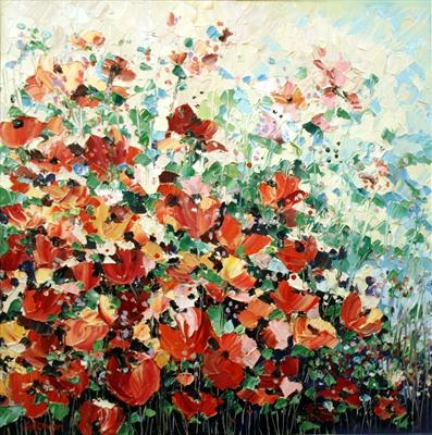Summer Daze by Alison Cowan, Painting, Acrylic on canvas