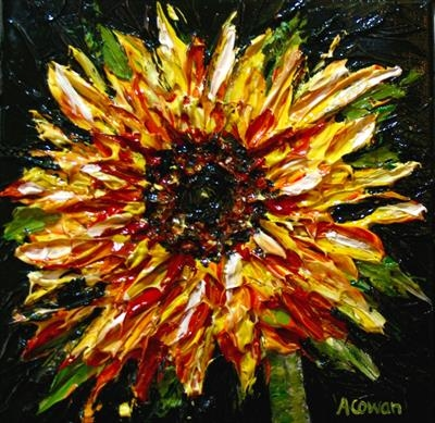 Sunflower 2 by Alison Cowan, Painting, Acrylic on canvas