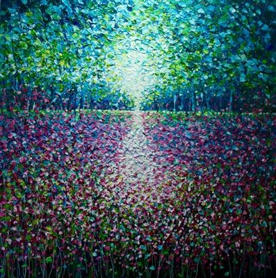 Sunlight Dance by Alison Cowan, Painting, Acrylic on canvas
