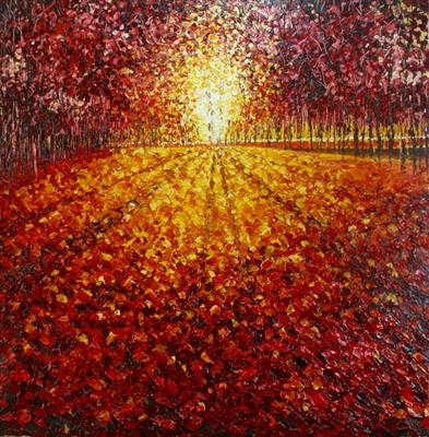Sunlit Carpet by Alison Cowan, Painting, Acrylic on canvas