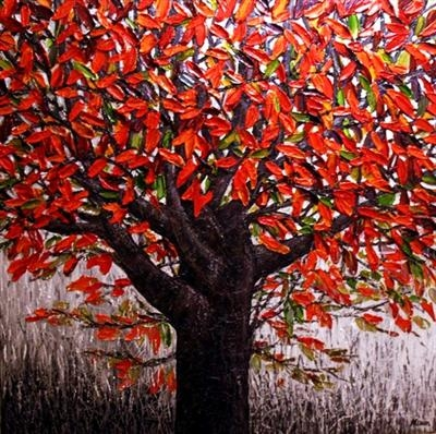 The Wishing Tree by Alison Cowan, Painting, Acrylic on canvas