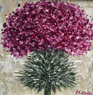 Thistle Burst by Alison Cowan, Painting, Acrylic on canvas