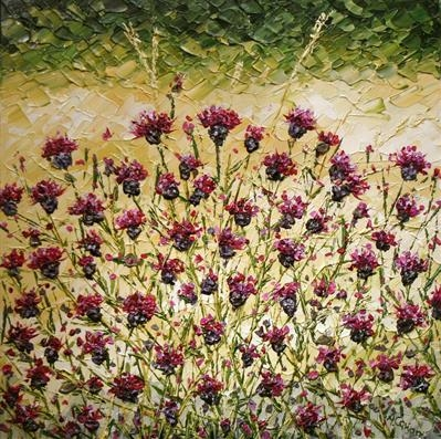 Thistle Maze by Alison Cowan, Painting, Acrylic on canvas