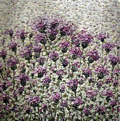 Thistle Mosaic by Alison Cowan, Painting, Acrylic on paper