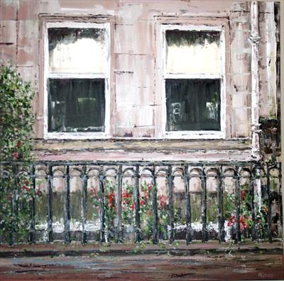 West End Window by Alison Cowan, Painting, Acrylic on canvas