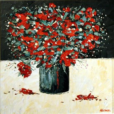 Winter Blooms by Alison Cowan, Painting, Acrylic on canvas