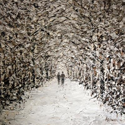 Winter Walk by Alison Cowan, Painting, Acrylic on canvas