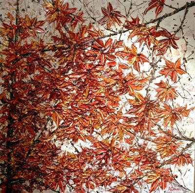 Worth WAiting for Again - Autumn by Alison Cowan, Painting, Acrylic on canvas